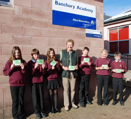 RoSPA book was presented to Banchory Academy pupils
